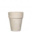 Pflanz Vase Alto mit Loch, D17cm, H20cm, granit